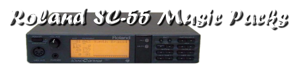 Roland SC-55 Music Packs